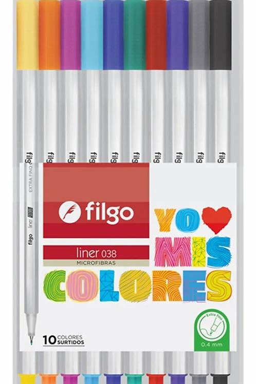 Microfibra Filgo  0.4 mm. x 10 u.