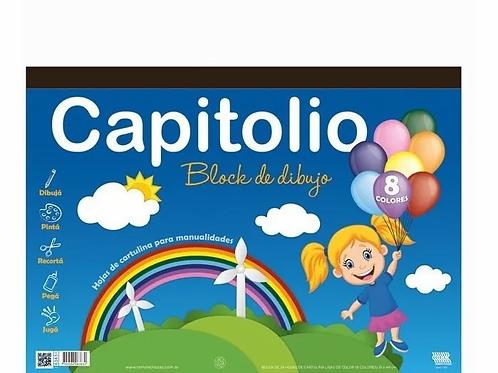 Block Dibujo Nº 6 Capitolio 25 Hojas De Colores