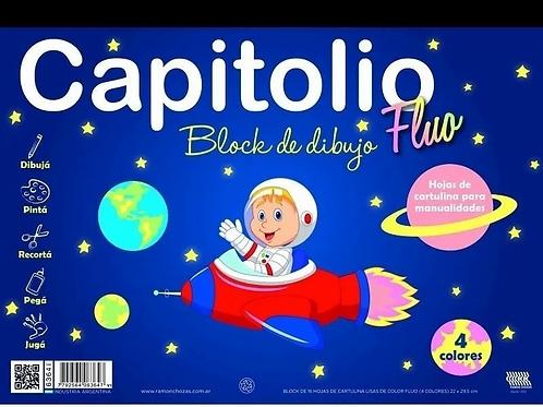 Block dibujo Capitolio fluo N°5 16 hjs