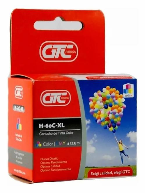 Cartucho GTC HP60 Color XL PARA HP 12.5ML