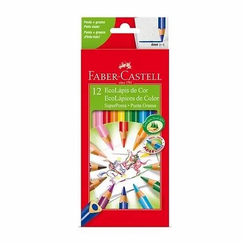 Lapices de Colores Faber Castell punta gruesa 12 largos