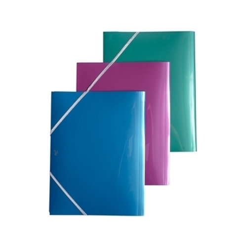 Carpeta FW c/ elastico 3 solapas Oficio metalizada x 1 u.