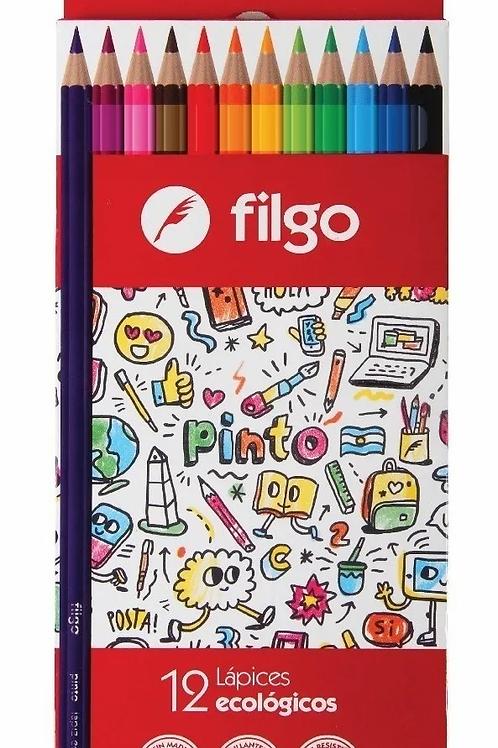 Lapices de Colores Filgo Pinto x 12 u.