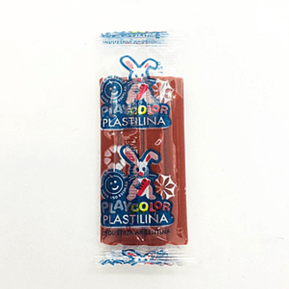 Plastilina Playcolor barra Marrón de 200 gr. x 1 u.