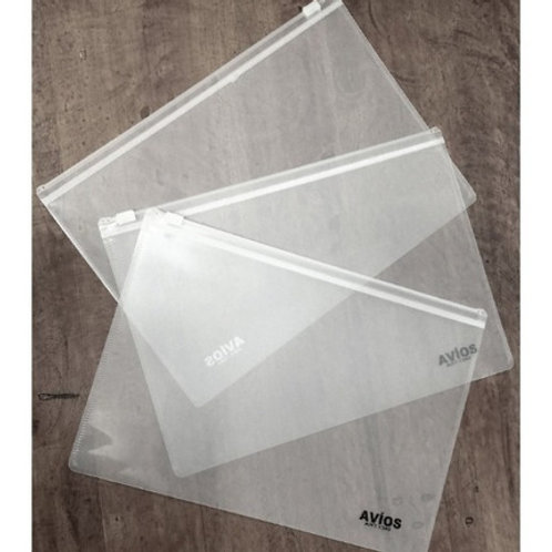Sobre plastico A4 con cierre Zipper