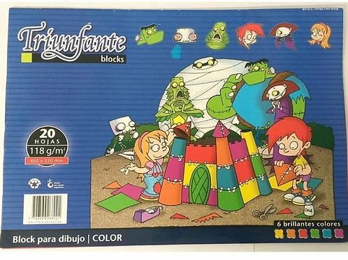 Block dibujo Triunfante N°6 color 20 hjs.