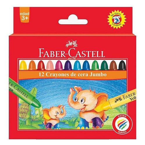 Crayones Faber Castell jumbo x 12 u.