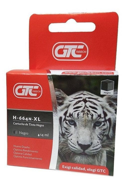 Cartucho GTC HP664 XL alt negro 14 ml