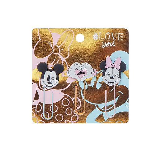 Maw Mickey&Minnie fun paper clips x 3 u.