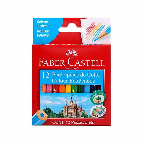 Lapices de Colores Faber Castell 12 cortos