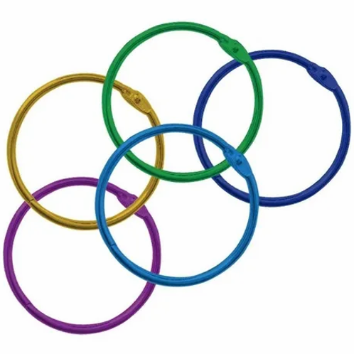 Aros p/ carpeta 50 mm. multicolor Ezco x 1 u.