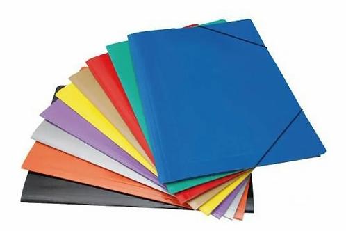 Carpeta c/ elastico Tandil 3 solapas of. color x 1 u.