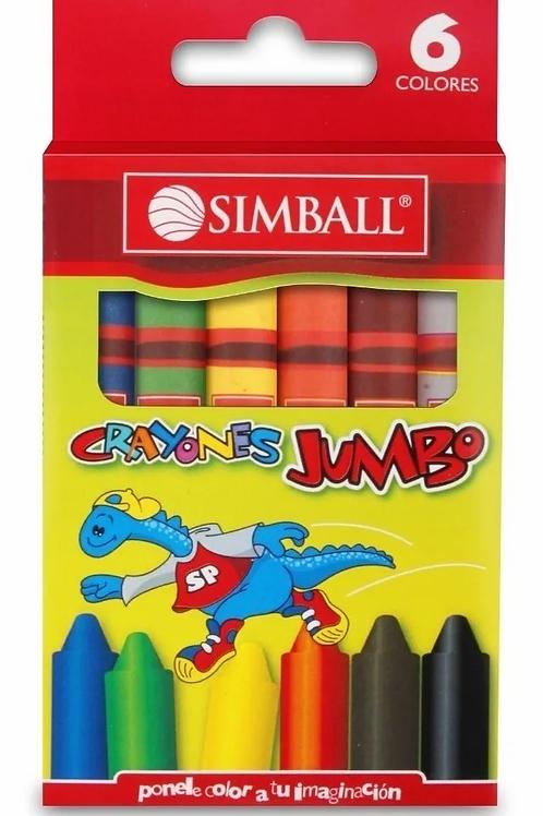 Crayones Simball Jumbo 6 colores