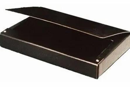 Caja fibra negra oficio 5 cm. x 1u.