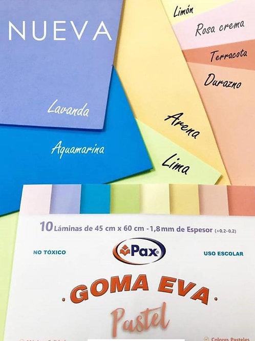 Goma eva Pax pastel 45 x 60 cm. x 1 u.