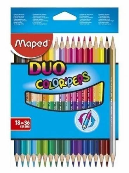 Lapices de Colores Maped bicolor x 18 u