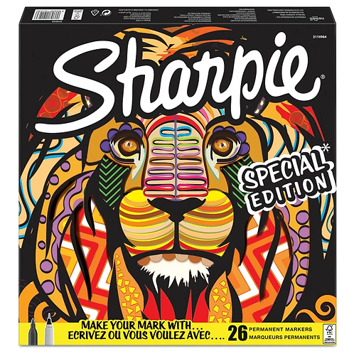 Marcadores Sharpie leon x 26 u.