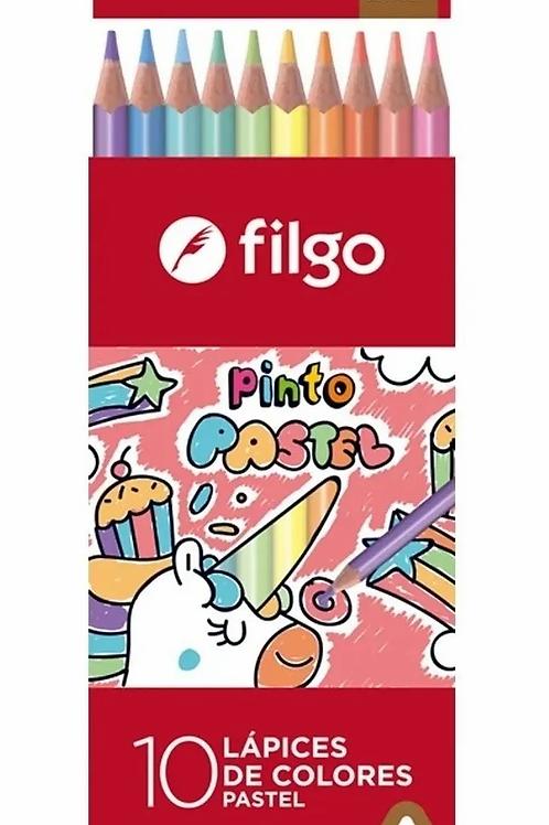 Lapices de Colores Filgo Pinto x 10 pastel.