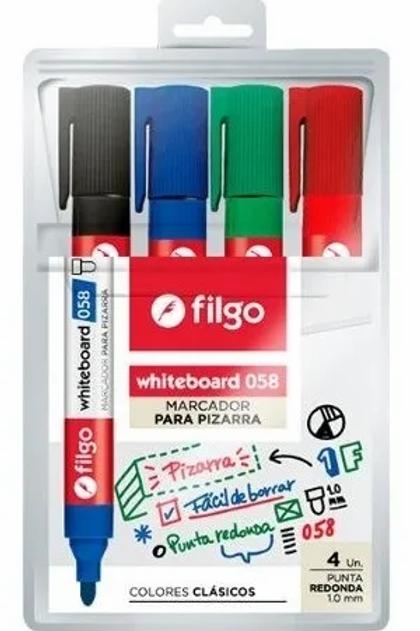 Marcador para pizarra Filgo x 4 u. 058.