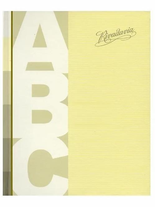 Cuaderno Rivadavia ABC 19 x 23 liso 50 hjs