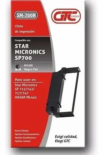 Cinta GTC SM 700 para SP 712 Negro nylon