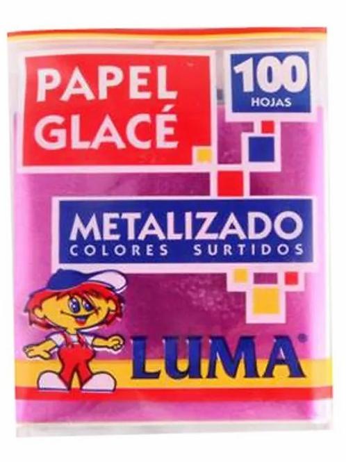 Papel Glace Taco metal x 100 hjs Luma