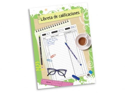 Libreta de calificaciones para docente.