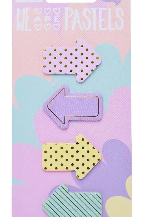 Maw sticky notes flechas pastel x 100 u.