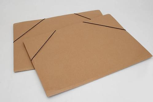 Carpeta c/elástico para Hoja N6 / A3 Marron