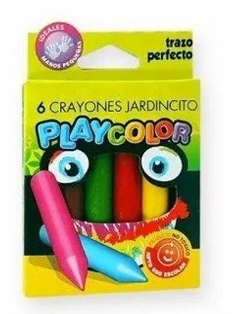 Crayones Playcolor x 6  Colores Jardincito