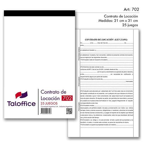 Formularios contratos locacion 50 juegos Tal