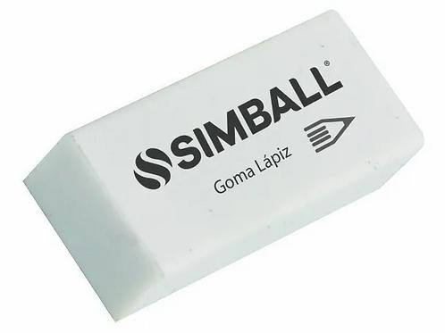 Goma de borrar Simball lapiz Blanca.