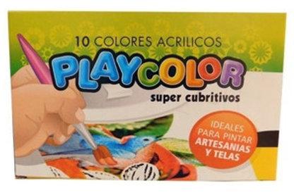 Pintura acrilica Playcolor 8 cc. x 10 colores.
