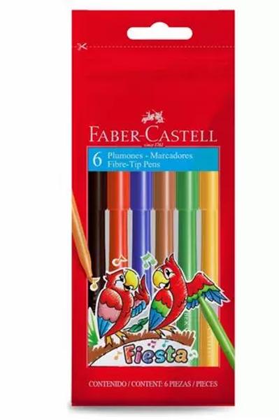 Fibras Faber Castell Fiesta 6 u.