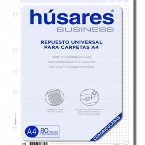 Repuesto A4 Husares business 80 hjs. x 1 u.