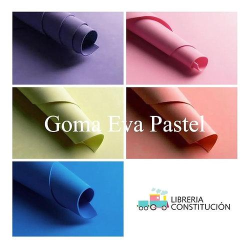 Goma Eva pastel Pax 40x60 cm x 10 u    1,5 mm
