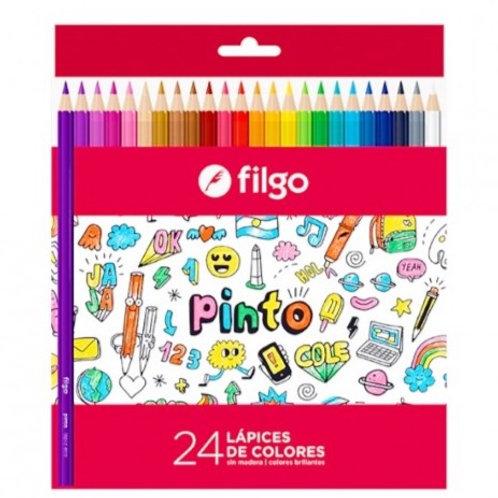 Colores Filgo x 24 u. largos Pinto