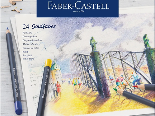 Lapices de Colores Faber lata 24 u. GoldFaber