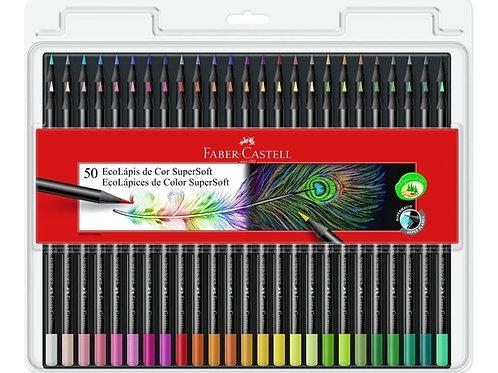 Lapices de Colores Faber Castell 50 supersoft