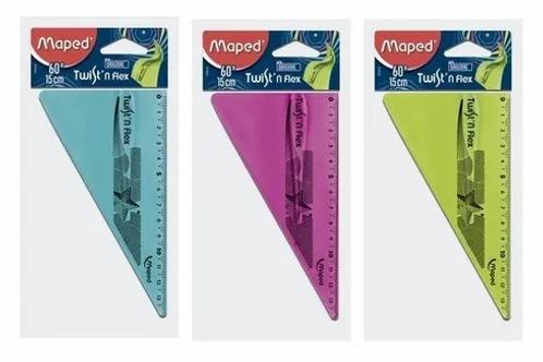 Escuadra Maped Twist flexible 60°/15 cm. x 1 u.