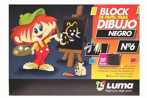 Block dibujo Luma N°6 negro 20 hjs
