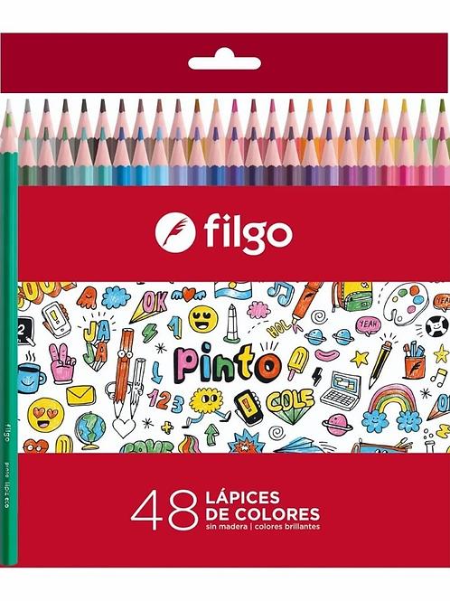 Colores Filgo x 48 u. largos Pinto