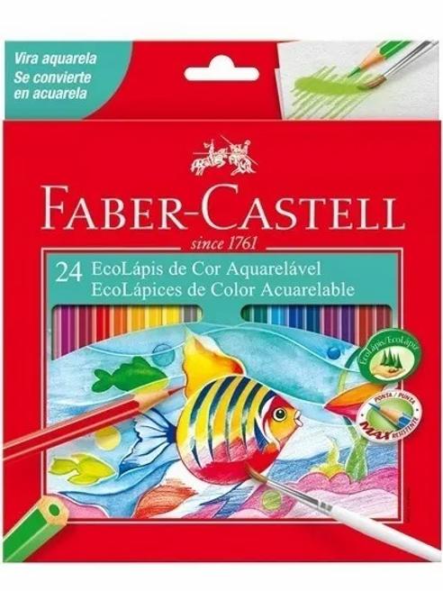 Lapices de Colores Faber Castell acuarelables 24 largos