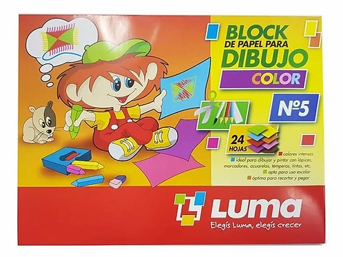Block dibujo Luma N°5 color x 24 hjs