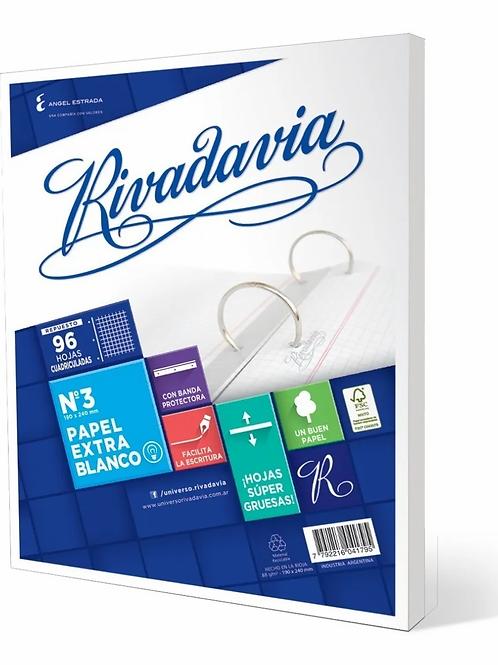 Repuesto Rivadavia N°3 x 96 hjs
