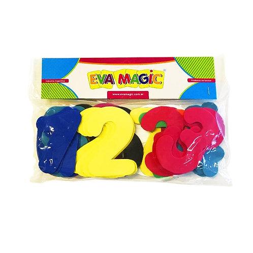 Numeros de goma Eva Magic
