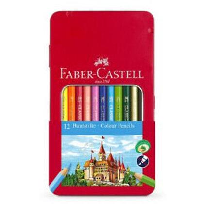 Lapices de Colores Faber Castell lata 12 largos
