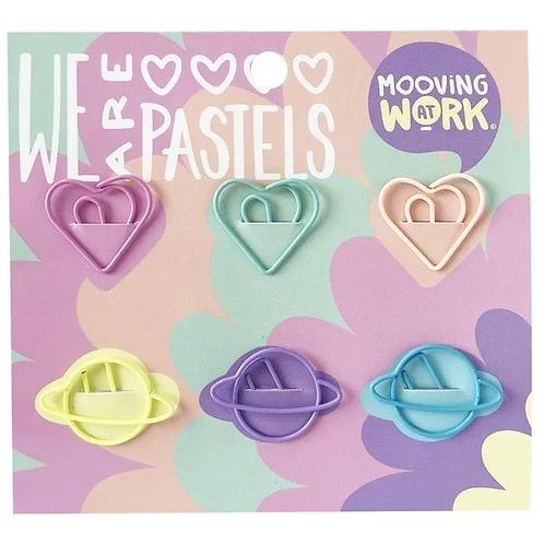 Maw paper clips con formas pastel x 6 u.