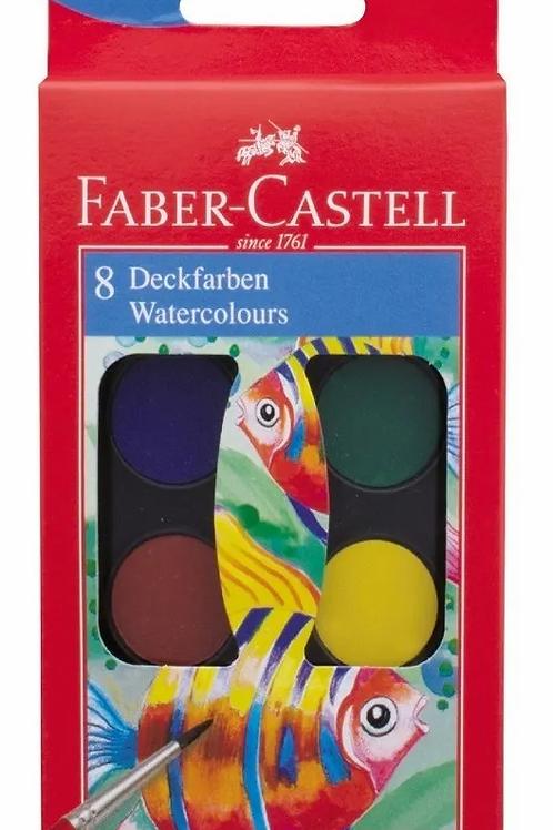 Acuarelas Faber Castell 8 colores x 1 u.