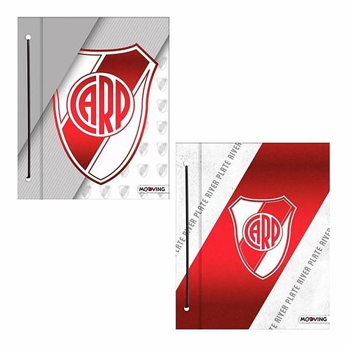 Carpeta Mooving N°3 c/ cordón River Plate 2 tapas
